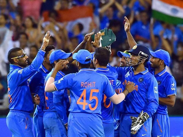 Team-India-celebrate-the-dismissal-of-South-Africa-s-David-Miller-during-the-Pool-B-2015-Cricket-World-Cup-match-between-South-Africa-and-India-at-the-Melbourne-Cricket-Ground-AFP-Photo