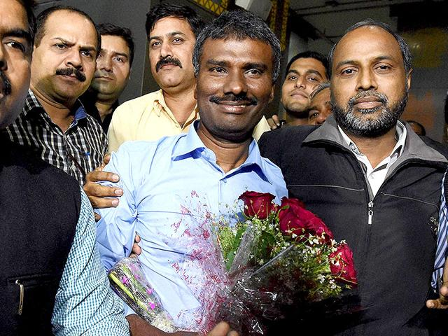 Father-Alexis-Prem-Kumar-abducted-in-Afghanistan-eight-months-back-on-his-arrival-at-New-Delhi-s-airport-PTI-photo