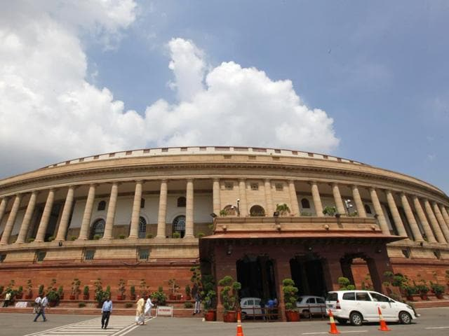 Thirty-three-members-of-parliament-from-the-BJP-and-its-partners-in-Bihar-have-moved-a-privilege-notice-to-Lok-Sabha-Speaker-Sumitra-Mahajan-against-Sudhir-Kumar-member-of-the-National-Highways-Authority-of-India-NHAI-saying-the-officer-made-insulting-remarks-during-a-discussion-about-the-condition-of-road-projects-in-Bihar-Arvind-Yadav-HT-Photo