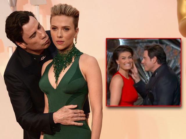 John Travolta,Scarlett Johansson,Oscars 2015