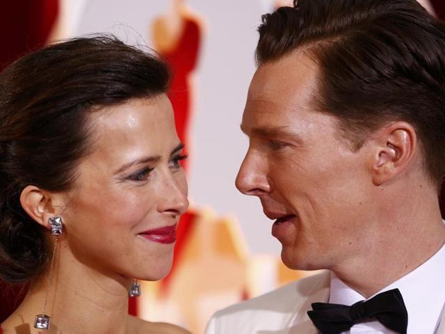 Benedict-Cumberbatch-and-his-wife-Sophia-Hunter