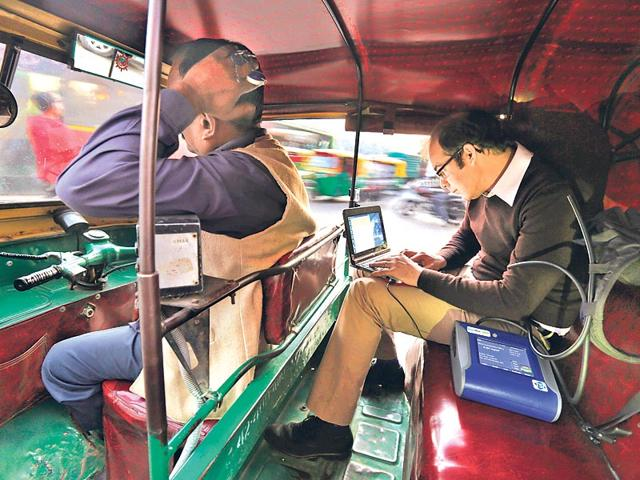 Joshua-Apte-undertook-a-four-month-auto-rickshaw-study-aimed-at-understanding-level-of-air-pollution-that-Delhi-residents-are-exposed-to-while-commuting-daily-AP-Photo