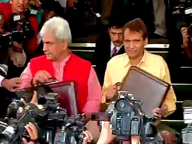Keeping-passenger-fares-unchanged-minister-Suresh-Prabhu-presented-his-maiden-budget-for-Indian-Railways-promising-to-balance-passenger-needs-and-long-term-interests-of-the-organisation-Himansu-Vyas-HT-Photo