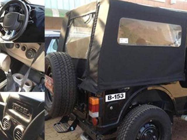 Thar facelift spotted,Mahindra,HVAC
