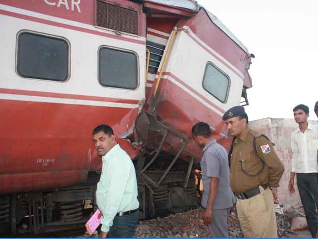 Train engine hits school van