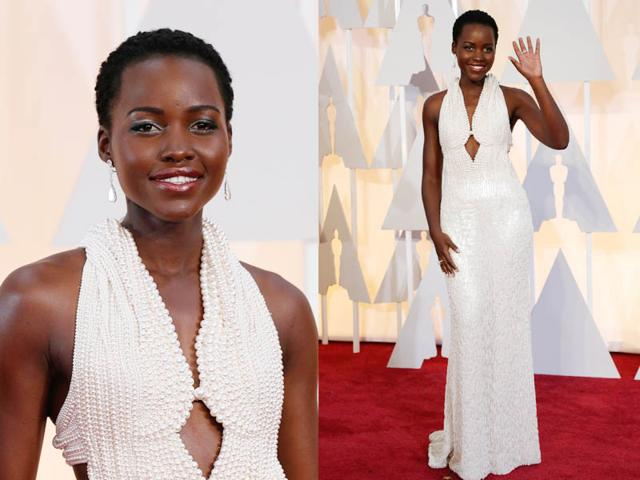 Never claimed the pearls were real: Calvin Klein on Lupita Nyong'o Oscar dress
