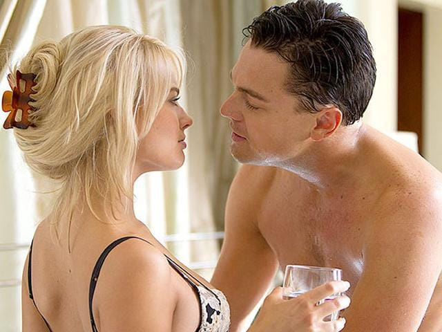 Margot-Robbie-and-Leonardo-DiCaprio-in-a-still-from-The-Wolf-of-Wall-Street