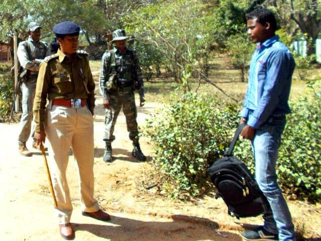 Sub-inspector-Raje-Kumari-Kujur-has-earned-the-nickname-of-Lady-Singham-for-her-unique-campaign-in-Simdega-district-HT-Photo