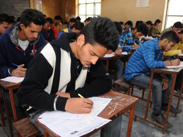 Students-appearing-for-10-2-exams-of-Punjab-School-Education-Board-in-Jalandhar-Pardeep-Pandit-HT