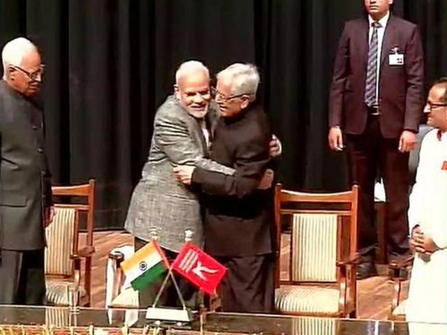 Hugs unlimited as two parties meet