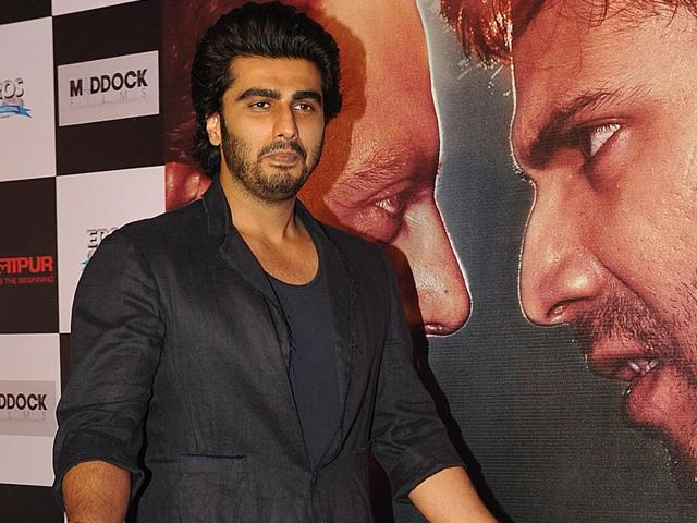 Arjun-Kapoor-at-the-success-party-of-Badlapur-AFP-Photo