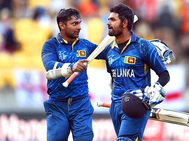 Sri-Lanka-s-Kumar-Sangakkara-L-and-Lahiru-Thirimanne-R-celebrate-after-hitting-the-winning-runs-against-England-during-their-2015-World-Cup-match-in-Wellington-AFP-Photo