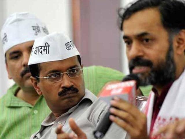 Arvind Kejriwal,Yogendra Yadav