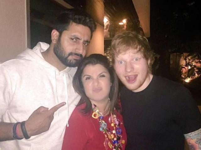 When-Ed-Sheeran-partied-with-Abhishek-Bachchan-Farah-Khan-Photo-FarahKhan-Twitter