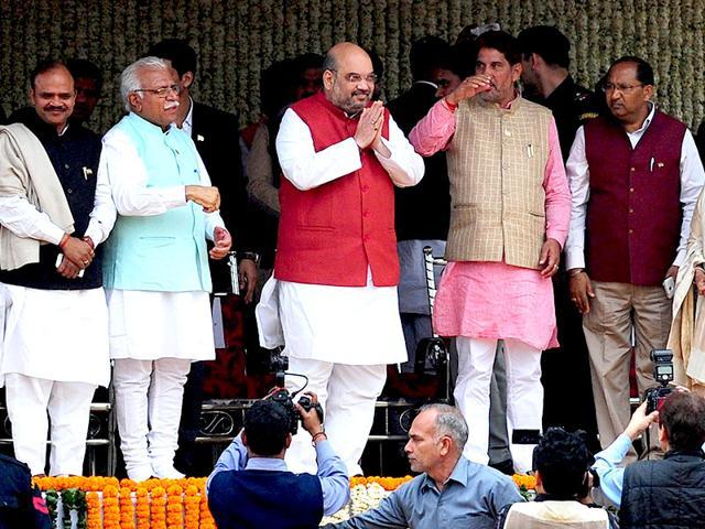 BJP-President-Amit-Shah-during-Prime-Minister-Narendra-Modi-s-felicitation-rally-held-at-Ramlila-Maidan-in-New-Delhi-HT-photo-Sonu-Mehtal