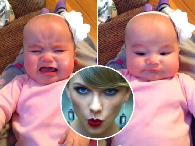 Watch: This baby will only stop crying when she hears Taylor Swift