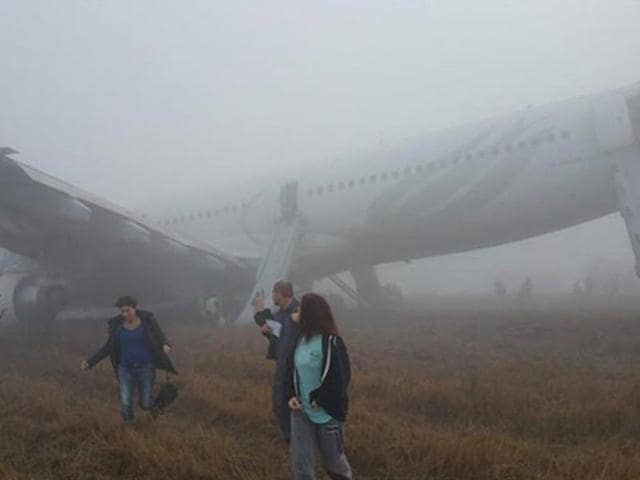 The-damaged-Turkish-Airlines-flight-after-part-of-its-skidded-on-the-runway-after-landing-on-Wednesday-morning-in-Kathmandu-Photo-courtesy-myrepublica-com