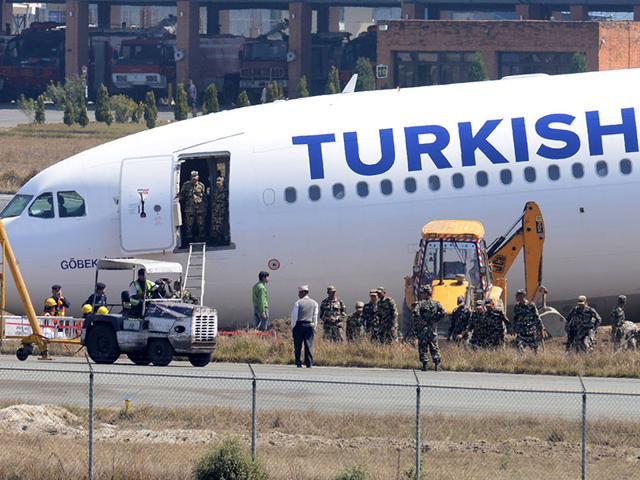 Indian Air Force,Turkish Airlines,Kathmandu airport