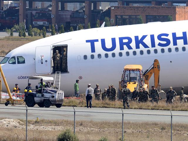 After Turkish Airlines plane skids off the runaway, IAF helps clear runway