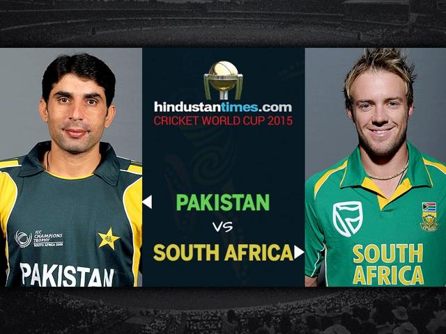 World Cup 2015, Pakistan vs South Africa: First-half report