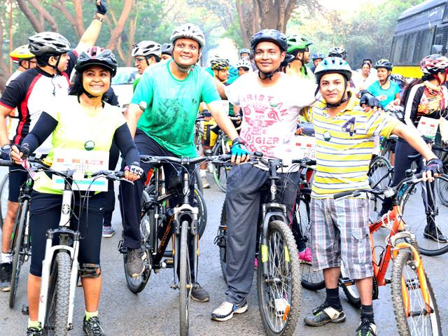 Mumbai: 150 cyclists rally to save Aarey Colony