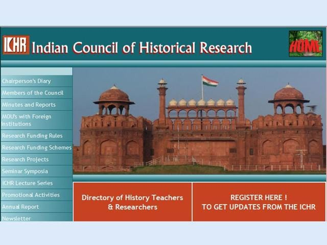 A-screen-grab-of-the-Indian-Council-of-Historical-Research-website
