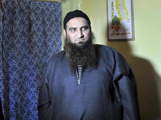 Kashmiri-separatist-leader-Masarat-Alam-at-his-home-in-Srinagar-on-Monday-Waseem-Andrabi-HT-Photo