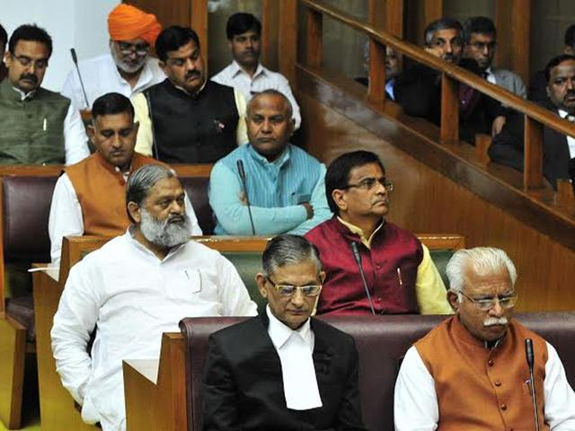 Member-of-Parliament-on-the-first-day-of--Haryana-budget