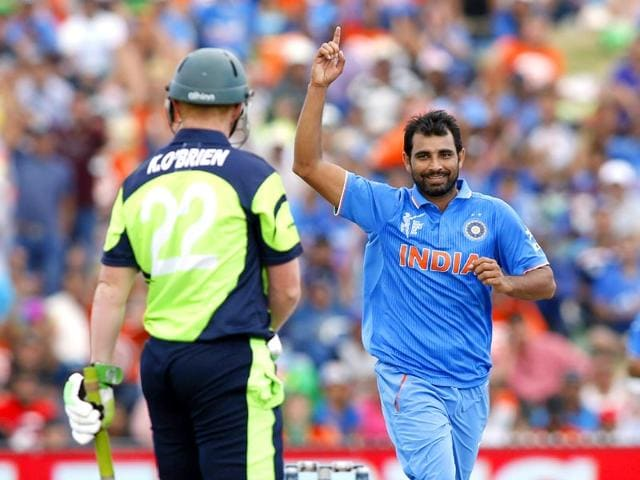 Mohammed-Shami-celebrates-after-taking-the-wicket-of-West-Indies-batsman-Dwayne-Smith-during-the-2015-Cricket-World-Cup-Pool-B-match-between-the-West-Indies-and-India-in-Perth-on-March-6-2015-AFP-PHOTO