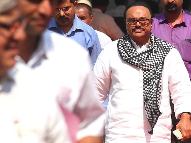 NCP-leader-Chhagan-Bhujbal-arrives-for-the-budget-session-of-Maharashtra-legislature-at-Vidhan-Bhavan-in-Mumbai--Kunal-Patil-HT-photo