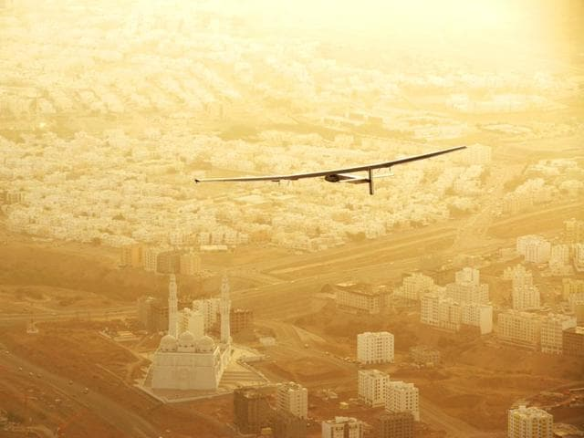 Ideal flight speed of Solar Impulse 2 is about 45 kph, though that can double during the day when sun