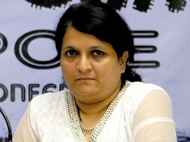 File-photo-of-Anjali-Damania-who-on-Wednesday-resigned-from-the-Aam-Aadmi-Party-accusing-Delhi-CM-Arvind-Kejriwal-of-horse-trading-HT-Photo-Kunal-Patil