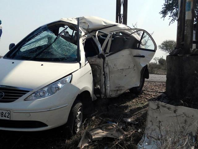 Two killed in car-truck collision on NH-1