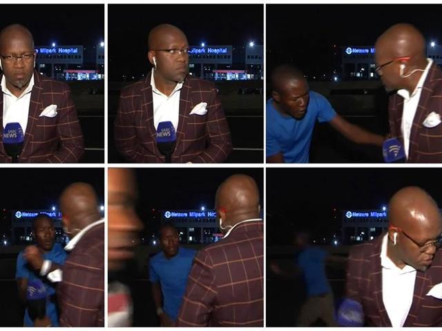South Africa reporter mugged,Vuyo Mvoko,Zambian President Edgar Lungu