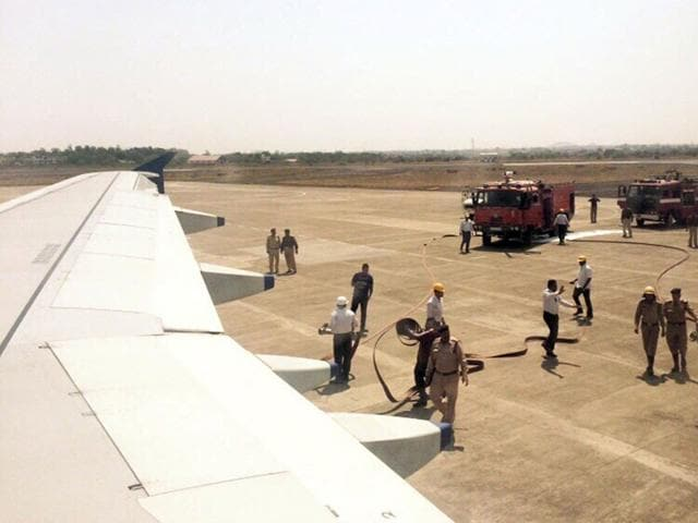 The-Indore-bound-IndiGo-flight-which-made-an-emergency-landing-at-Devi-Ahilyabai-Airport-on-Wednesday-morning-HT-photo