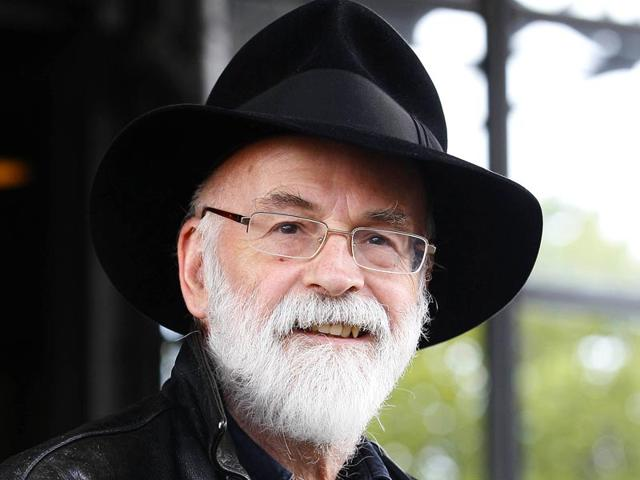 A-file-photo-of-British-author-Terry-Pratchett-Fantasy-writer--Pratchett-died-aged-66-He-suffered-from-a-very-rare-form-of-early-onset-Alzheimer-s-disease-AP-File-Photo