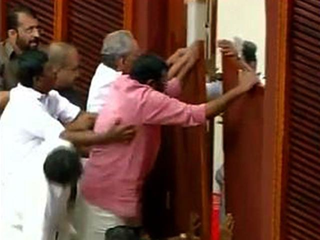 Hell breaks loose in Kerala Assembly: 14 pics that tell you everything
