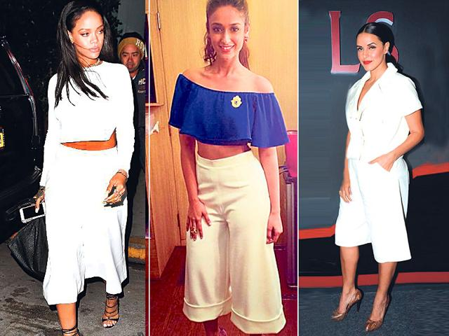 Rihanna-L-Ileana-D-Cruz-C-and-Neha-Dhupia-R-rightly-point-out-that-you-can-never-go-wrong-with-white-things-are-no-different-for-culottes