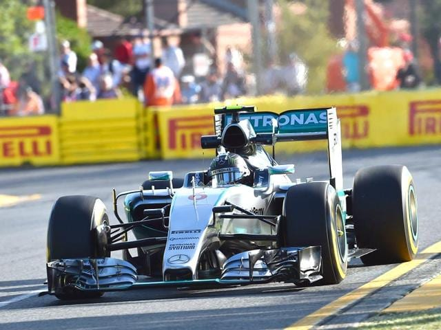 Mercedes-German-F1-driver-Nico-Rosberg-powers-through-a-corner-during-the-second-practice-session-for-the-Australian-Grand-Prix-in-Melbourne-AFP-Photo