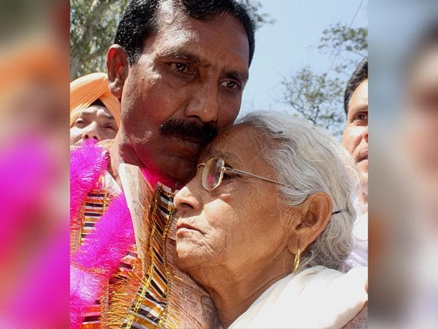 Gopal-Dass-who-had-spent-27-years-in-Pakistani-Jail-after-his-release-at-Attari-border-Munish-Byala-HT-File-Photo