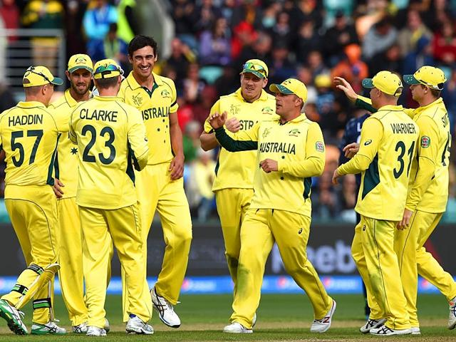 Mitchell-Starc-4th-L-celebrates-with-teammates-after-taking-a-wicket-at-the-Bellerive-Oval-in-Hobart-during-the-2015-World-Cup-match-between-Australia-and-Scotland-AFP-Photo