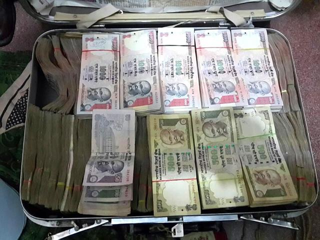 The-Anti-Corruption-Bureau-recovered-nearly-Rs-65-lakh-in-cash-from-the-home-of-a-Rajasthan-Administrative-Service-RAS-officer-HT-Photo