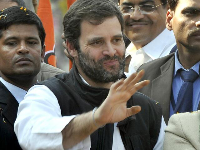 A-file-photo-of-Congress-vice-president-Rahul-Gandhi-campaigning-for-party-candidate-Jai-Kishan-from-Sultahpuri-constituency-ahead-of-the-2015-Delhi-assembly-elections-Mohd-Zakir-HT-Photo