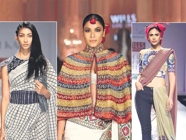 For-a-casual-look-take-inspiration-from-the-runway-on-how-to-team-a-saree-well