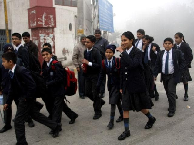 Rohtak-s-top-school-has-asked-students-not-to-purchase-uniforms-for-coming-session-as-a-new-dress-code-comprising-of-salwar-kurta-would-be-applicable-for-girls-from-Class-7-to-12-HT-photo