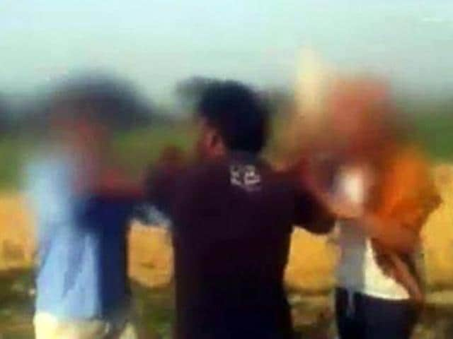 Hatras assult,WhatsApp video,girl beaten up
