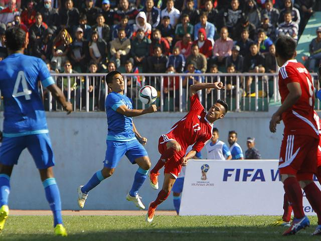 India-s-Sunil-Chhetri-competes-for-the-ball-with-Nepal-s-Bikram-Lama-during-their-2018-Fifa-World-Cup-qualifying-match-in-Kathmandu-Nepal-AP-Photo