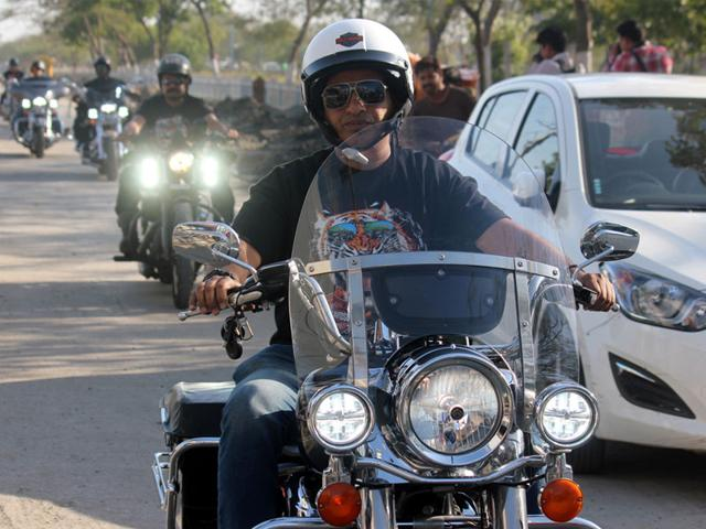 Dharmendra-Jain-from-Indore-a-lawyer-by-profession-will-be-among-five-bikers-who-will-make-the-trip-by-some-members-of-the-exclusive-Harley-Owners-India-Club-Shankar-Mourya-HT-photo
