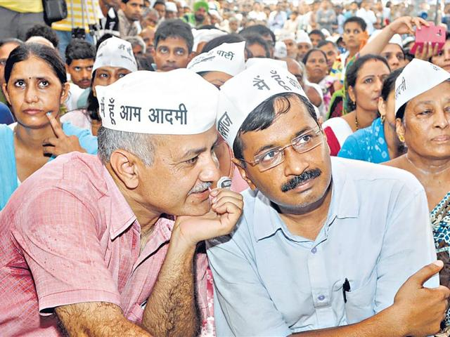 The-first-split-took-place-when-an-ambitious-Kejriwal-and-fellow-travellers-like-his-Man-Friday-Manish-Sisodia-began-to-tire-of-Anna-style-fast-politics-and-sought-a-more-direct-role-in-electoral-politics-Sushil-Kumar-Hindustan-Times
