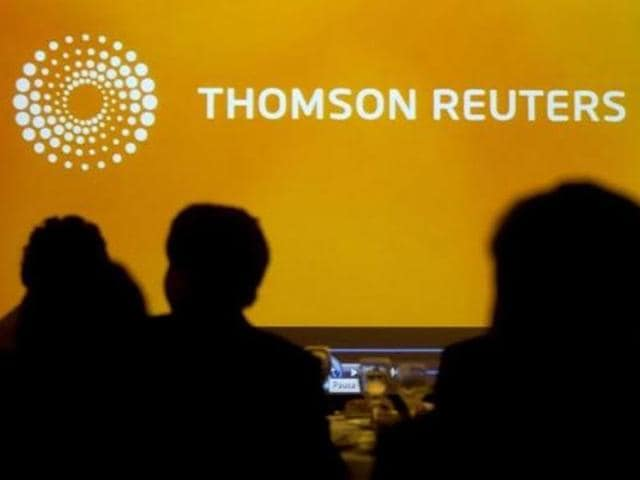 A-logo-of-Thomson-Reuters-is-seen-during-the-Reuters-Economic-Forum-at-Santiago-Photo-Reuters